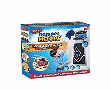 Wham-O Hamper Hoops Over the Door Basketball Backboard Laundry Bag for Kids by Wham-O