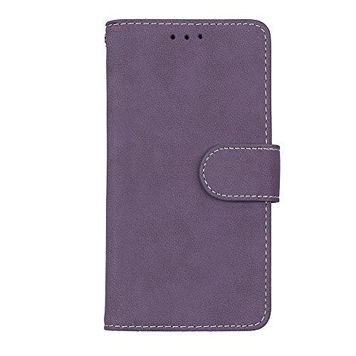 Cover Samsung Galaxy J3 (2017) TOTOOSE Bark Grain Pattern PU Funda de cuero Cierre magnético Flip Stand Cover con ranuras para tarjetas Para Samsung Galaxy J3 (2017) -azul púrpura