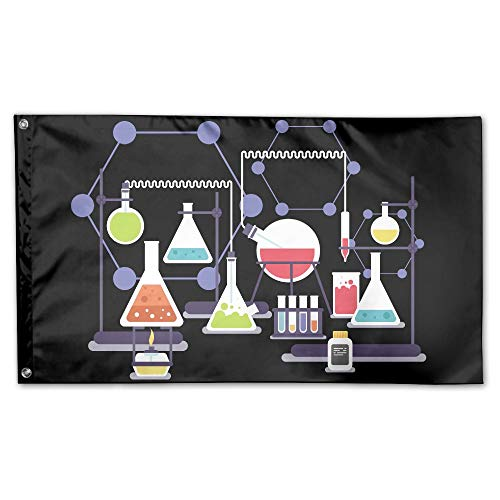 YUANSHAN Home Garden Flag Chemistry Heating Experiment Polyester Flag Indoor/Outdoor Wall Banners Decorative Flag Garden Flag 3' X 5'
