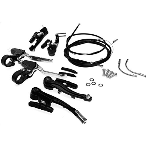 Set Brake Rim (New Brake Levers V Brakes Cables Caliper Kit For BMX Mountain Bike/Bicycle)