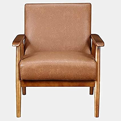 Enjoyable Amazon Com Leather Accent Chair With Wood Frame Accent Ibusinesslaw Wood Chair Design Ideas Ibusinesslaworg
