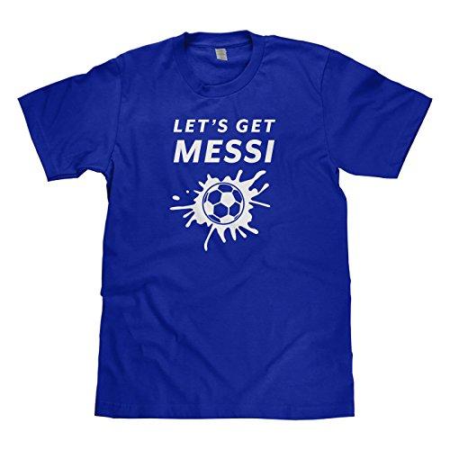 Mixtbrand Big Boys' Let's Get Messi Soccer Youth T-Shirt L Royal