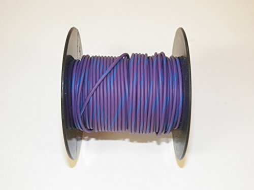 Violet/Blue Striped, 18 GA AWG GXL Wire, 100