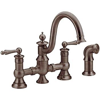 Moen S713wr Waterhill Two Handle High Arc Kitchen Faucet
