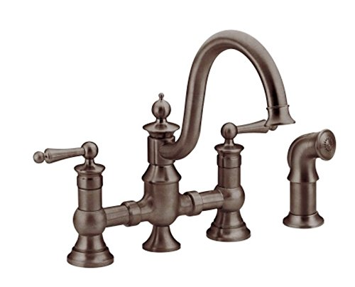 Waterhill Collection - Moen S713ORB Waterhill Two-Handle High Arc Kitchen Faucet, Oil Rubbed Bronze