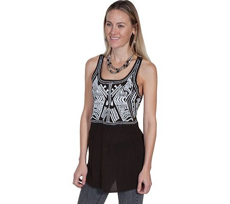 Scully Women's Honey Creek Electra Embroidered Tank Top