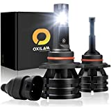 OXILAM 9012/HIR2 LED Headlight Bulbs Conversion Kit 10,000 Lumens Extremely Bright All-in-One Mini Design IP67 CSP Chipsets 6000K Cool White -2 Year Warranty (Pack of 2)