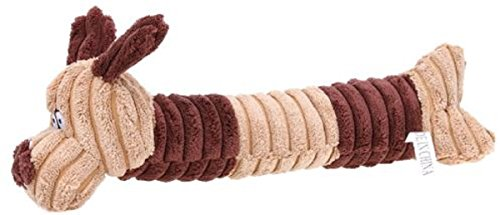 Dog Shape Squeaking Toy - New Cute Long Dog Shape Squeaking Corduroy Chew Toy, Generic