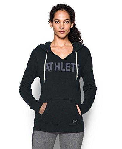 Under Armour Women's Favorite Fleece-Athlete, Black/White, X-Small