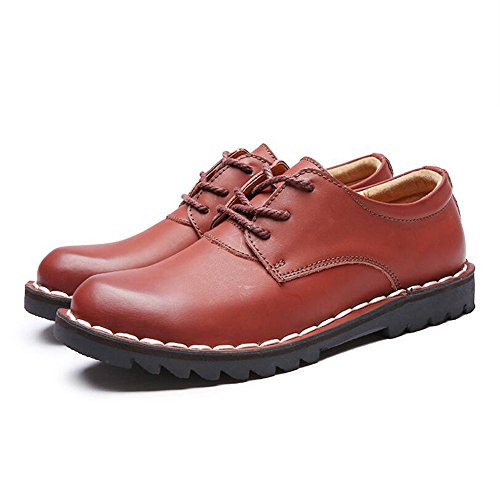 Uomo Brown Red Stringate Scarpe JUNBOSI pqUOR