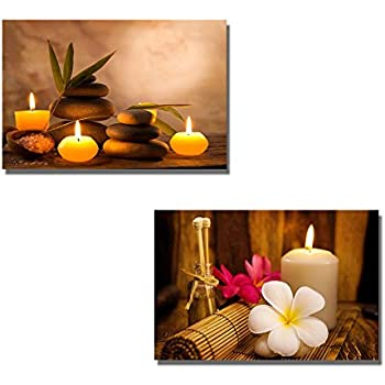 Amazon.com: Wall26 Canvas Prints Wall Art - Spa Still Life with ...