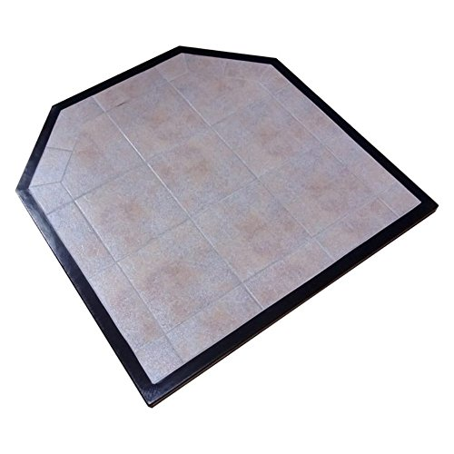 Ceramic Tile Hearth (HearthSafe 48 x 48 in. Wall Thermal Hearth Pad)