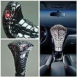 wonofa Universal LED Metal Head Car Gear Knob Modified Gear Shift Knob Car Skull Head Modification Lighted Shift Knob Gear Stick Red Light