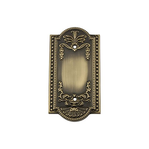 Nostalgic Warehouse 719721 Meadows Switch Plate with Blank Cover, Antique Brass ()