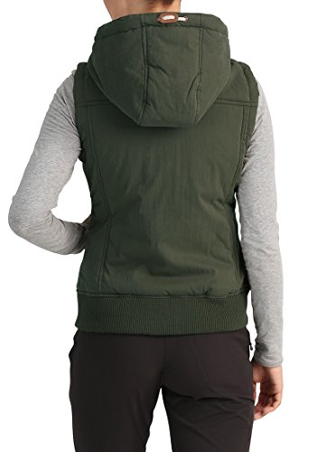 Ivy Quilted Hood with Lewise Gilet Warmer Body Women's Vest Green Desires 3797 BAaCzE