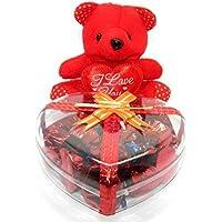 Rich'U Chocolates Heart Shape Gift Box - 15 Pcs with Teddy Bear