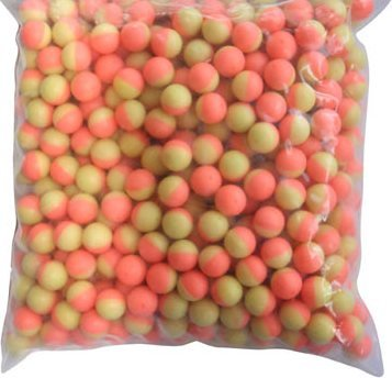 100 count Bag .43 caliber Dust Powder Balls Paintball Pink/Yellow 11mm waterproof kt chaser eraser I&I Sports
