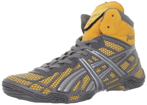 ASICS Men's Dan Gable Ultimate 2 Wrestling Shoe,Silver/Titanium/Tiger Orange,11 M US Asics Mens Ultimate Tiger