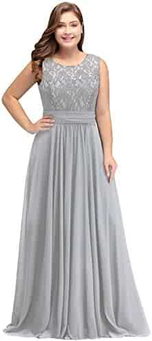a6bce4b205f18e Babyonline Women Chiffon Long Mother of The Bride Dresses Plus Size Prom  Dresses