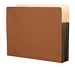Star  Heavy Duty Top Tab File Pockets, Expanding Letter Size Red Rope 3-1/2 Inch with Full Tyvek Expansion 25 PER BOX