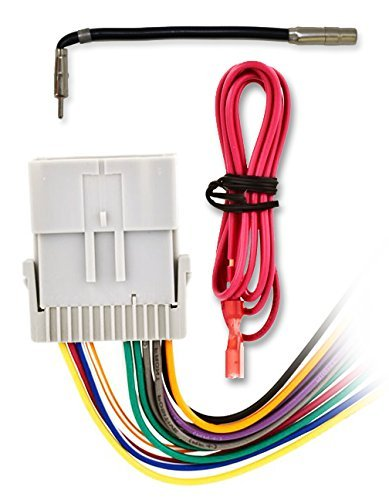 (Metra 70-2003 Radio Wiring Harness For GM General Motors 98-08 Harness + GM-10 Antenna)