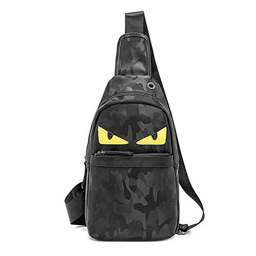Men's Sling Bag Oxford Chest Bag Shoulder Backpack Cross Body Travel,Rswsp (Oxford-Black)