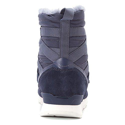 Nuovo Bilancia Donna Wl510 In Camoscio Blu Cenere / Tessuto