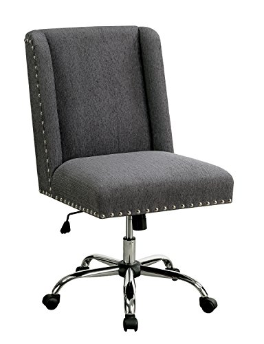 HOMES: Inside + Out IDF-FC642GY Bronzite Wingback Office Chair, Gray by HOMES: Inside + Out