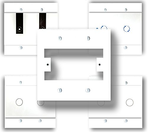 SmartPlate, Wall Plate, Switch Plate for Smart Switches, 2 Gang Electrical Boxes, White Plastic (2 Gang)