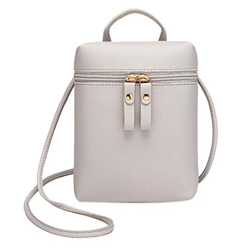 Candy Sac sac Main Bag petit Sac monnaie mode à de Sac dos une Mode à Femme couleur à Femme JIANGfu sac Messenger Gris portable main messager porte Cabas épaule femmes EwTqW7x