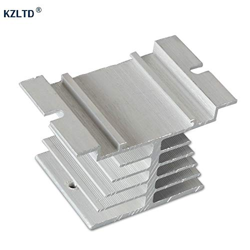 Electrical Equipments Ssr Heatsink Aluminum Heat Sink For 10A 15A 25A Single Phase Solid State Relay Heatsinks Heat Dissipation Dissipator