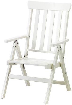 Sdraio In Legno Ikea.Ikea Angso Sedia A Sdraio Per Esterni Bianco Pieghevoli Colore Bianco White 240 X 220 50 X 80 Cm Amazon It Casa E Cucina