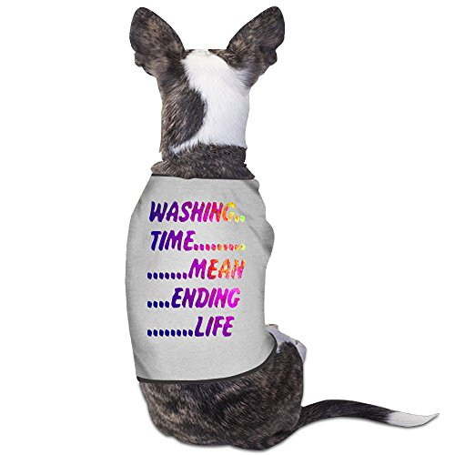 [Custom Pet Clothing Washing Time For Dog Cat 100% Polyester] (Katie Holmes Costumes)