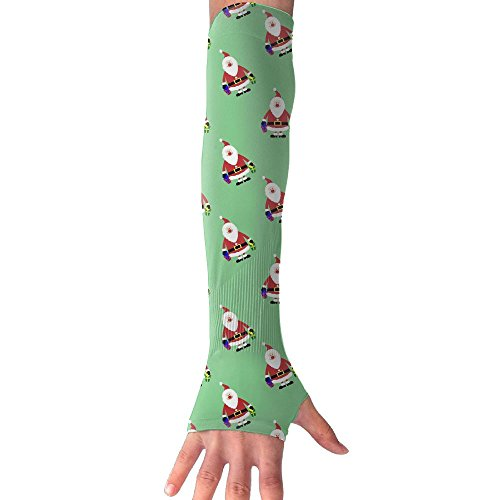 (Fonsisi Sunscreen Anti-UV Arm Sleeves Santa Claus Clipart Compression Armguard Band Unisex Cycling Outdoor Sports Protective Hand Cover Gloves)