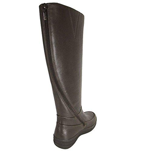 Fitflop Kvinnor Ff-lux Fullt Zip Knähöga Läder Boot Skor Mörkbrun