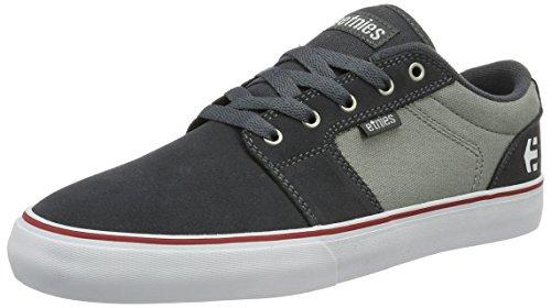 Etnies Barge Ls, Color: Dark Grey/Grey/Red, Size: 45.5 Eu / 11.5 Us / 10.5 Uk