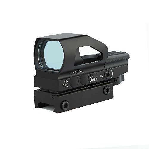 IRON JIA'S Spike Optics Hunting 1x23x34 Red and Green Dot Sight Scope with 20mm Weaver Mount Base fit 12ga Shotgun .223 ()