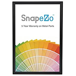 "Black Poster Frame 36x48 Inches, 1.2"" SnapeZo Profile, Front Loading Quick Poster Change, Wall Mounted, Professional Series"