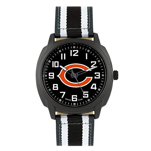 Chicago Bears Fan Series Watch - NFL Chicago Bears Mens Ice Series Wrist Watch, Black, One Size