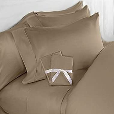 Elegant Comfort 4 Piece 1500 Thread Count Luxurious Ultra Soft Egyptian Quality Coziest Sheet Set, King, Taupe