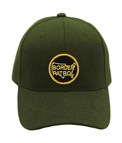 Border Patrol Hat - Adjustable-Back Ball Cap with Embroidered