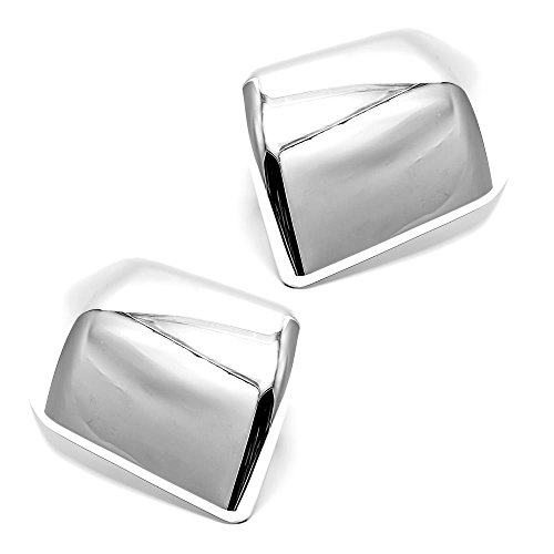 LJ INTERNATIONAL Quality Accessories Triple Chrome Plated Full Mirror Covers Compatible with Ford - F150 Chrome Mirror Ford Covers