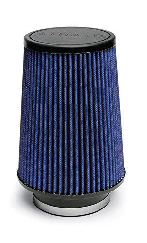 Airaid 703-422 Universal Clamp-On Air Filter: Round Tapered; 3.5 in (89 mm) Flange ID; 8 in (203 mm) Height; 6 in (152 mm) Base; 4.625 in (117 mm) Top
