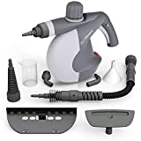 steamer bed bug - PurSteam Handheld Pressurized Steam Cleaner with 9-Piece Accessory Set - Multi-Purpose and Multi-Surface All Natural, Chemical-Free Steam Cleaning for Home, Auto, Patio, More