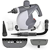 PurSteam Handheld Pressurized Steam Cleaner with 9-Piece Accessory Set - Multi-Purpose and Multi-Surface All Natural, Chemical-Free Steam Cleaning for Home, Auto, Patio, More