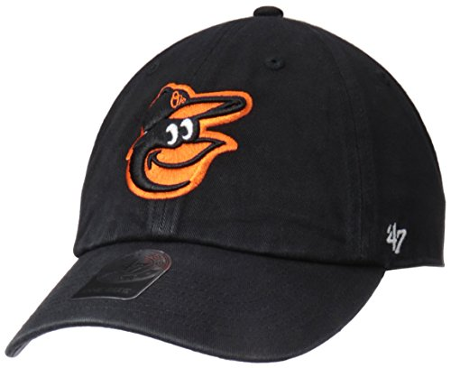 fan products of MLB Baltimore Orioles '47 Clean Up Adjustable Hat, Black, One Size
