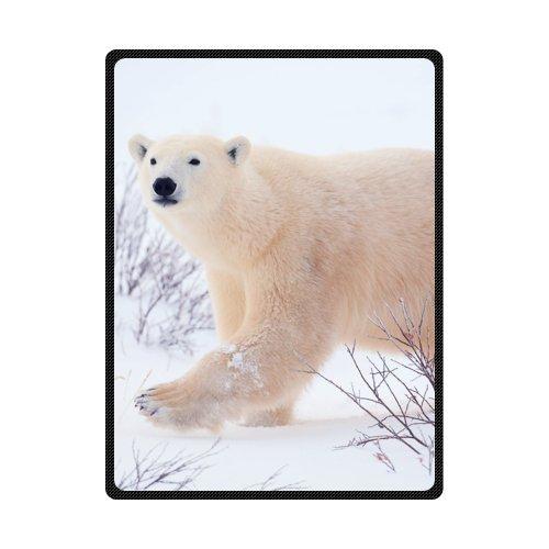 Funny Winter Bear Comfy Polar Fleece Throw Blanket 58