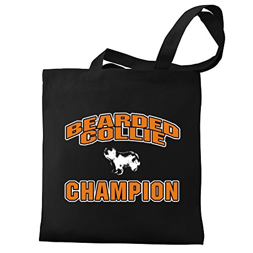 Eddany Eddany champion Bearded Bearded Collie Canvas Tote Bag qRgTq