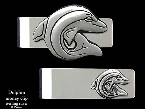 Dolphin Money Clip in Solid Sterling Silver Hand Carved, Cast & Fabricated by Paxton by Paxton Jewelry