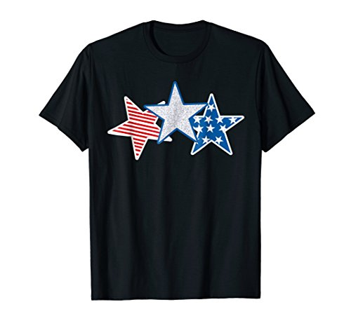 USA Red White Blue T-shirt American Flag U.S.A Stars Stripes